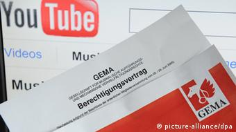 Legal disputes between YouTube and GEMA, Copyright: picture alliance / DPA