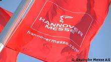 Hannover Messe 2012 Fahne mit Logo