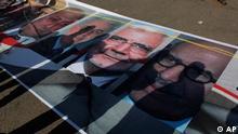 تصویر البرادعی در کنار دیگر نامزدهای ریاست جمهوری در میدان تحریر قاهره