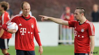 Franck Ribery and Arjen Robben