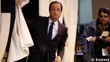 """پیشبینی میشود فرانسوا اولاند،سیاستمدار """"چپگرای میانهرو""""، ۲۸ تا ۳۰ درصد آرا را کسب کند"""