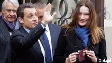 Präsidentschaftswahlen Frankreich 2012 Nicolas Sarkozy Carla Bruni-Sarkozy