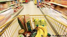 Fair gehandelte Waren im Supermarkt