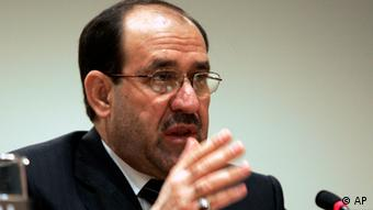 Nuri al-Maliki, Prime Minister of Iraq, speaks during a press conference after attending high-level meetings on Iraq at U.N. headquarters Saturday, Sept. 22, 2007. (ddp images/AP Photo/David Karp)