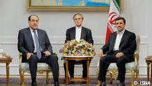 نوری مالکی (چپ) در تهران