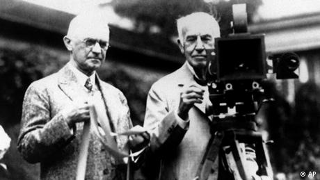 George Eastman and Thomas Edison (AP)
