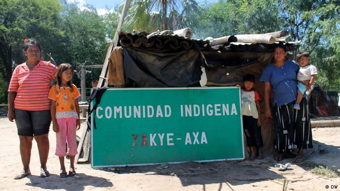 Paraguay's Yakye Axa indigenous community lost its land, forcing its people to live in a makeshift roadside settlement in terrible conditions.