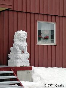 Die chinesische Arktisstation, Ny Alesund, Spitzbergen. *** Foto: Irene Quaile, Deutsche Welle, eingestellt im April 2012