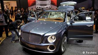 Bentley SUV concept car displayed at Auto China 2012 REUTERS/Jason Lee