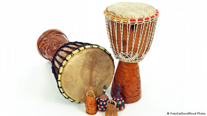 Djembe drums and caxixi shakers © GoodMood Photo #7143648 - Fotolia.com