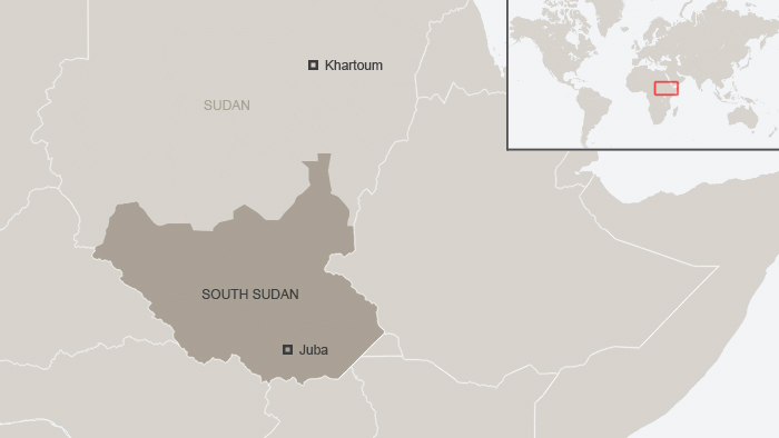 Map of South Sudan and Sudan. DW-Grafik: Peter Steinmetz