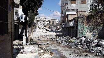Destruction in Syrian city of Homs