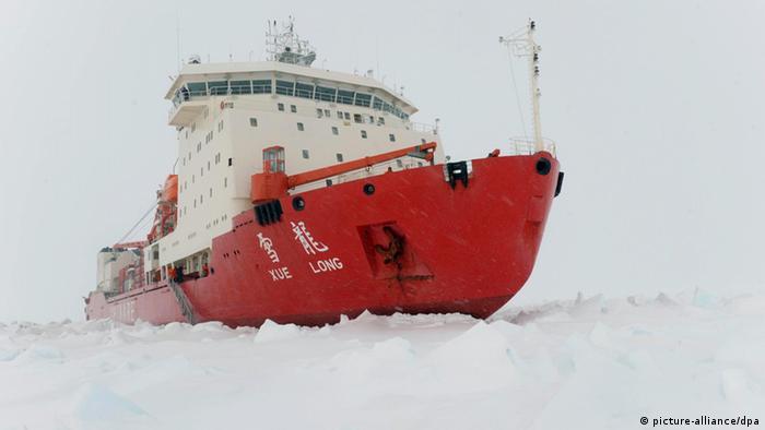 Chinesischer Eisbrecher China Arktis (picture-alliance/dpa)