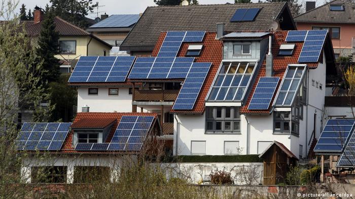 Deutschland Solardach Solarzellen
