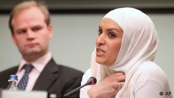 Amnesty International's John Dalhuisen and Hejare Boujtat