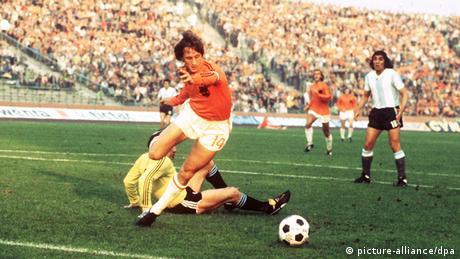 Fußball-WM '74 Niederlande - Argentinien 4:0 Johann Cruyff