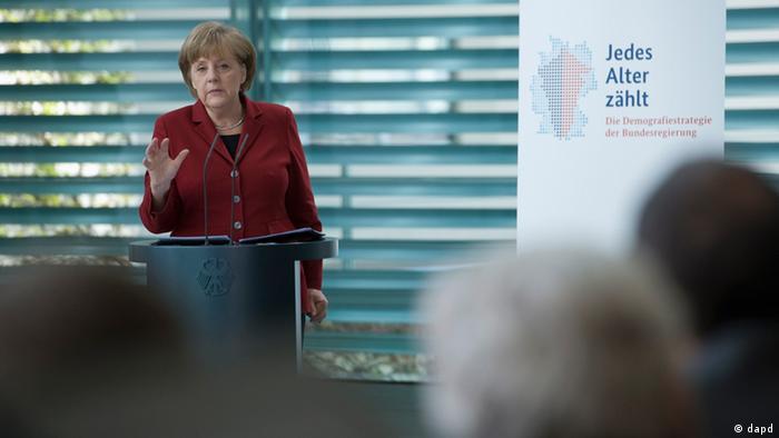Angela Merkel abrió el Congreso sobre Cambio Demográfico.