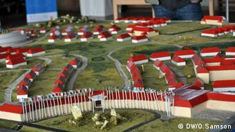 Small-scale model of the village
