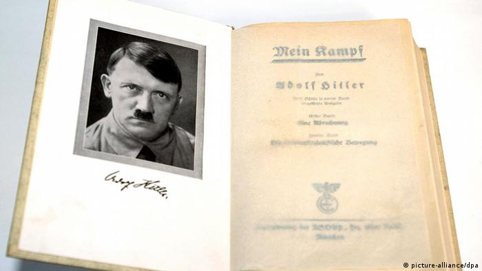 A first edition issue of 'Mein Kampf'