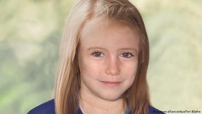 Madeleine McCann in computer-general photo showing how she might look at age 9. Photo: EPA