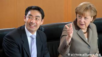 Angela Merkel and FDP leader Philipp Rösler