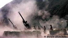 Bofors Waffen im Einsatz in Indien
