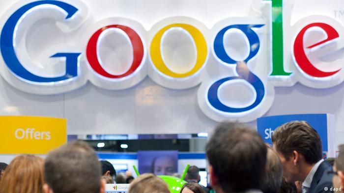 Foto logo besar Google (AP Photo/Mark Lennihan)