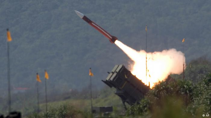 A U.S.-made Patriot missile is launched during the annual Han Kuang No. 22 exercises, Thursday, July 20, 2006, in Ilan County, 80 kilometers (49 miles) west of Taipei, Taiwan. The goal of the exercises is to test the joint combat capability of the Taiwanese armed forces to fend off a Chinese offensive. Taiwan split from China in 1949 amid civil war and China hasn't ruled out the use of force to unify the island. (ddp images/AP Photo)
