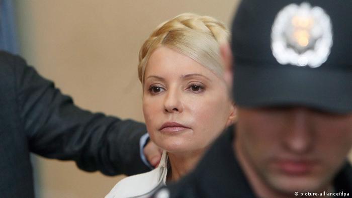 Julia Timoschenko während einer Anhörung im Gericht in Kiew im Juni 2011 (Foto: picture-alliance/dpa)