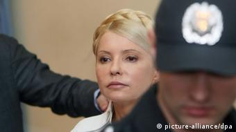 Yulia Tymoshenko during a court hearing in Kyiv