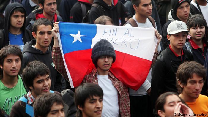 Fin al lucro, piden los estudiantes en Chile.