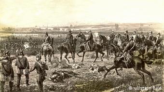 Gefecht des Preußischen 5. Armeekorps bei Weissenburg im Elsass am 04.08.1870 (FOTO: ullstein bild)