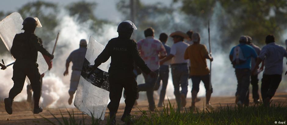 Protesto na Bolívia em 2011