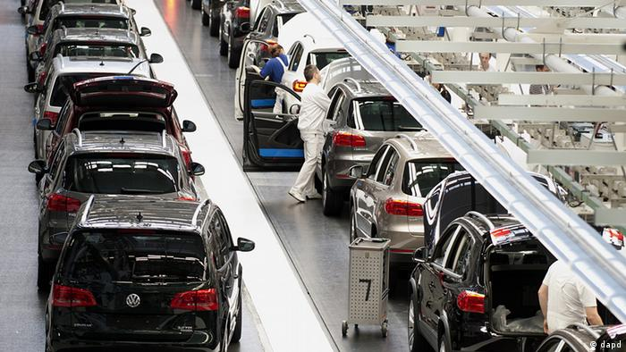 Volkswagen assembly line