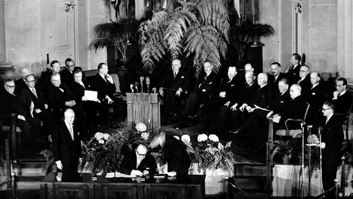 Bildergalerie Geschichte der NATO Gründung in Washington 1949 (AP)