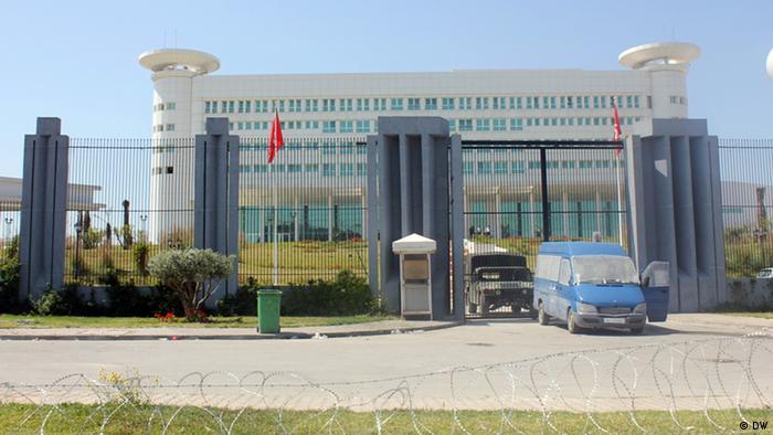 مقر التلفزيون الحكومي التونسي في العاصمة تونس