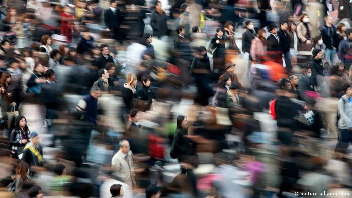 Japan Menschenmassen in Tokio (Foto: dpa)
