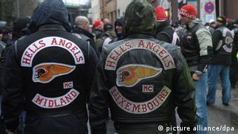 Members of the Hells Angels biker gang