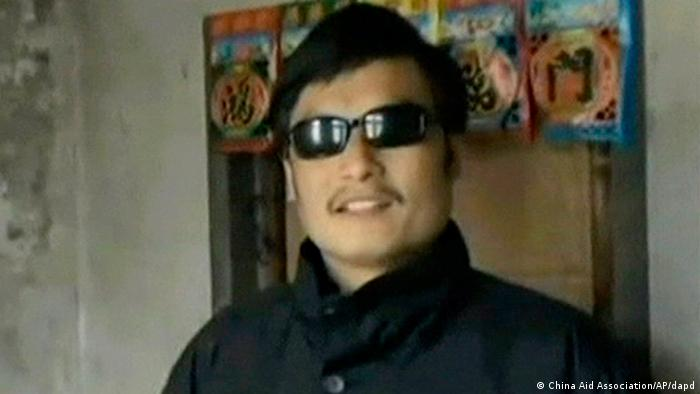 In this Jan. 2011 image made from video released on Feb. 10, 2011, by China Aid Association, Chinese activist and lawyer Chen Guangcheng speaks in Dongshigu village, Shandong province, China.