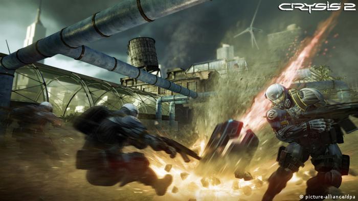 Actionszene aus dem Computerspiel Crysis 2 (Foto: DPA)