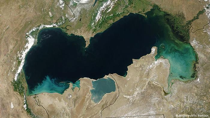 Kaspisches Meer Satelittenbild
