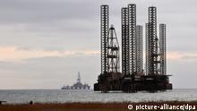 Ölbohrinseln vor der Küste von Baku Aserbaidschan