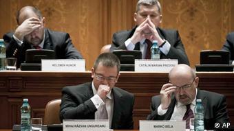 Romanian politicians await outcome of no confidence vote
