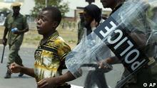 Wahlen in Sambia Unruhen Polizei