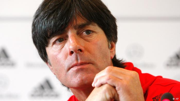 Coach of national soccer team Joachim Loew adresses the media announcing that Michael Ballack will be captain of the team once he is back in good shape, in Frankfurt, central Germany, Wednesday, Sept. 1, 2010. (AP Photo/Michael Probst)