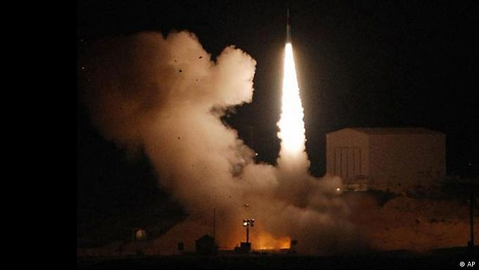 ** FILE ** In this photo made available by the Israeli Aerospace Industries, IAI, Monday, Feb. 12, 2007, the Arrow anti-missile system is fired during a test launch after sundown Sunday, Feb. 11, 2007 at the Palmahim airforce base. Israel and the U.S. are conducting a large-scale missile defense exercise aimed at combining their systems, American and Israeli officials said Sunday March, 18, 2007, as both countries warn that Iran could obtain nuclear weapons and long-range missiles. (AP Photo/IAI, HO) ** NO SALES **