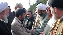 دیدار مولوی عبدالحمید و احمدی نژاد در زاهدان مرکز استان سیستان و بلوچستان