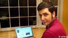 Dateiname/n: Arash Sigarchi-April 12-001.JPG (bis 004) Beschriftung: Arash Sigarchi, nominiert bei den BOBs 2012 in der Kategorie Best Blog. Blog: Window of Anguish Schlagworte: Arash Sigarchi, Best Blog, BOBs 2012, Deutsche Welle Blog Awards Zulieferer: Petra Füchsel am 27.4. mit Rechteerklärung vom 29.4.