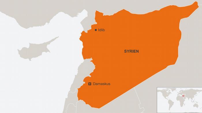 Karte Syrien mit Idlib Deutsch