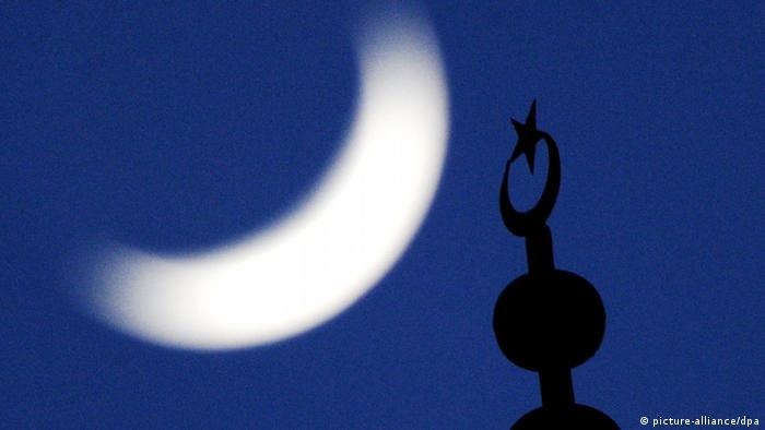 Symbolbild Islam in Deutschland Minarett der Fatih-Moschee in Essen (picture-alliance/dpa)